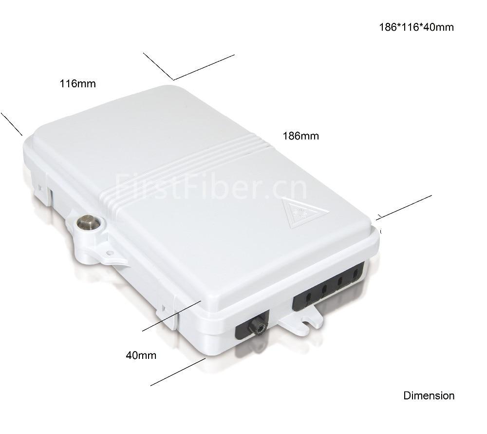 FTTH 4 Core Fiber Optic Termination Box 4 Port Optical Fiber Distribution Box FTTX Fiber Optic Box Splitter Box