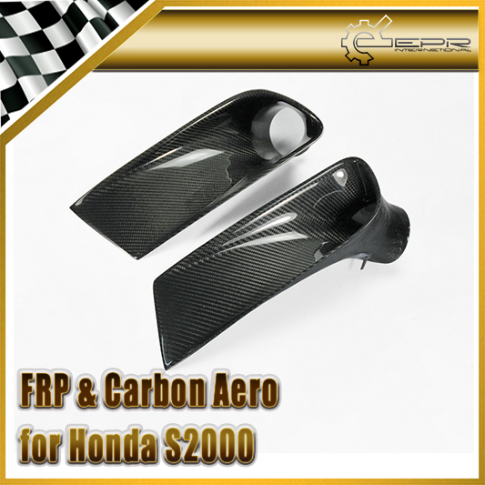 Car-styling Carbon Fiber Front Bumper Air Duct Intake Vent Fit For Honda S2000 AP1 universal auto car bumper moulding decorative fins canards front splitter sticker carbon fiber car styling for all cars 4pcs set