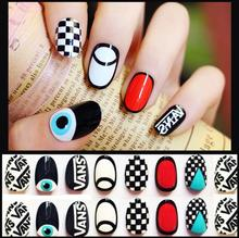 Japanese tide harajuku bump color finished manicure overhand super good-looking sole little monsters Fake nails