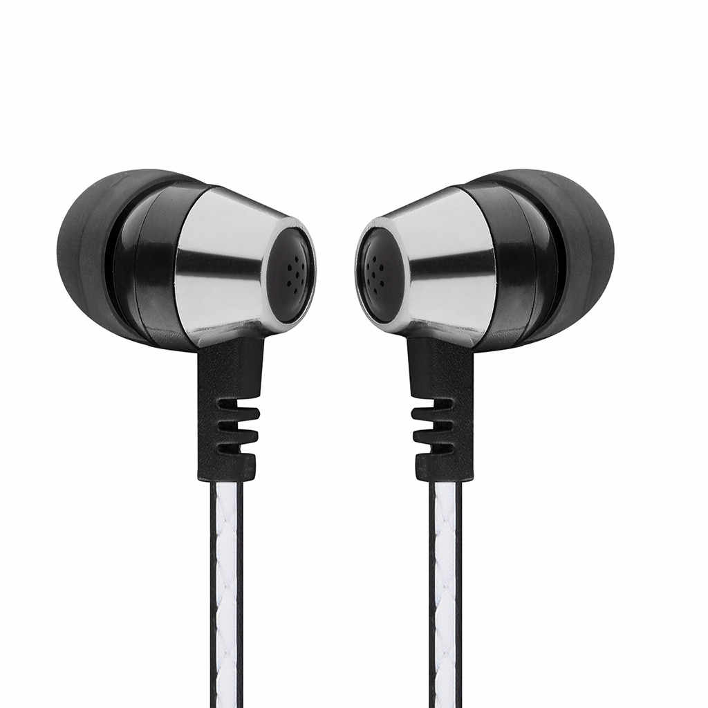 In-Ear3.5mm Stereo Hifi Earbuds Bass Earphone Sports Headset with Mic for Phone Cellphone Earphone