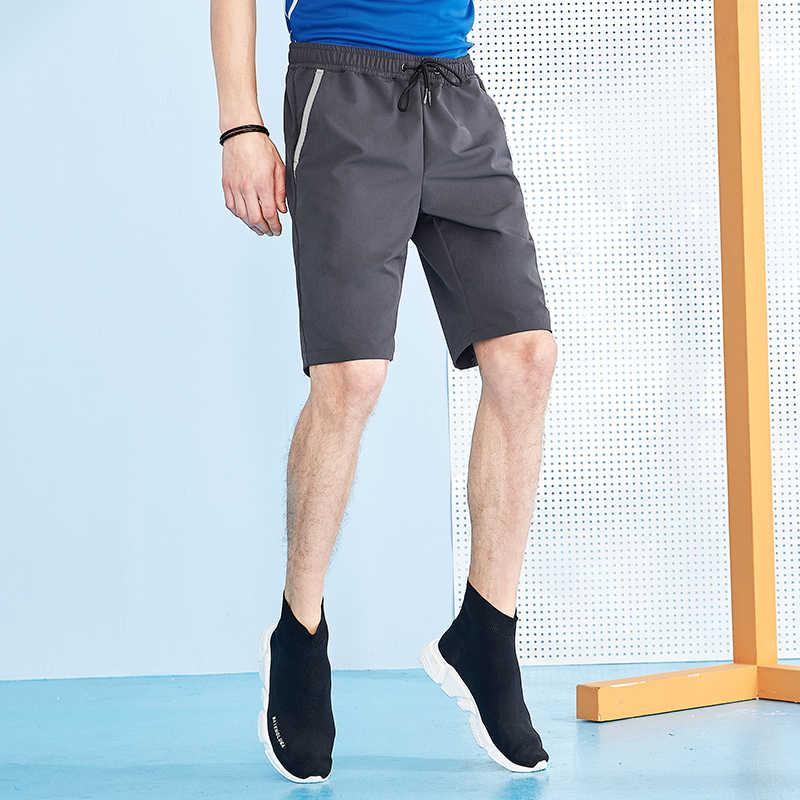 Campamento de pioneros nuevo secado rápido pantalones cortos de golf de los hombres senderismo bordado Lobo pantalones cortos Hombre elástico de las Bermudas pantalones cortos para hombre ADK801184