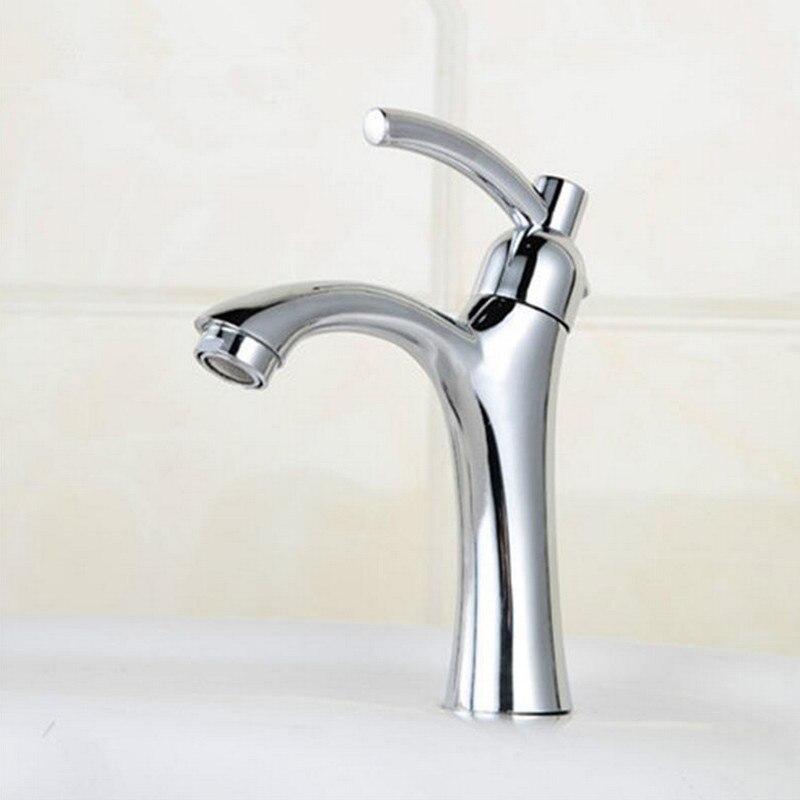 spedizione gratuita freddo singolo bagno rubinetto del bacino con lega di zinco lavandino rubinetto del bacino