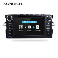 Xonrich Car Multimedia Player GPS Android 8.1 2 Din DVD Automotivo For TOYOTA/AURIS/Altis/COROLLA 2012 2013 Radio FM 4 Core Wifi