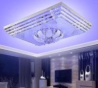 Simple rectangle LED ceiling lights living room lights rectangular bedroom hotel crystal LED lamps creative ceiling lamp ZA