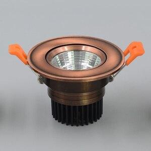 Image 4 - אירופאי COB Downlight 3 W/5 W/9 W/15 W AC85 265V Dimmable Downlight מנורה שקוע תאורה מקורה תאורה