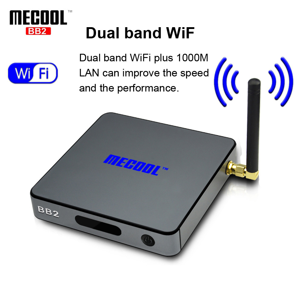 MECOOL BB2 Pro Android TV Box Amlogic S912 64 bit Octa core ARM Cortex-A53 2GB 16GB 4K WiFi BT4.0 2.4G/5.8G Wifi Set-top Boxes latest amlogic s905 quad core 64 bit arm cortex a53 android 5 1 mx 64 tv box support kodi pre installed