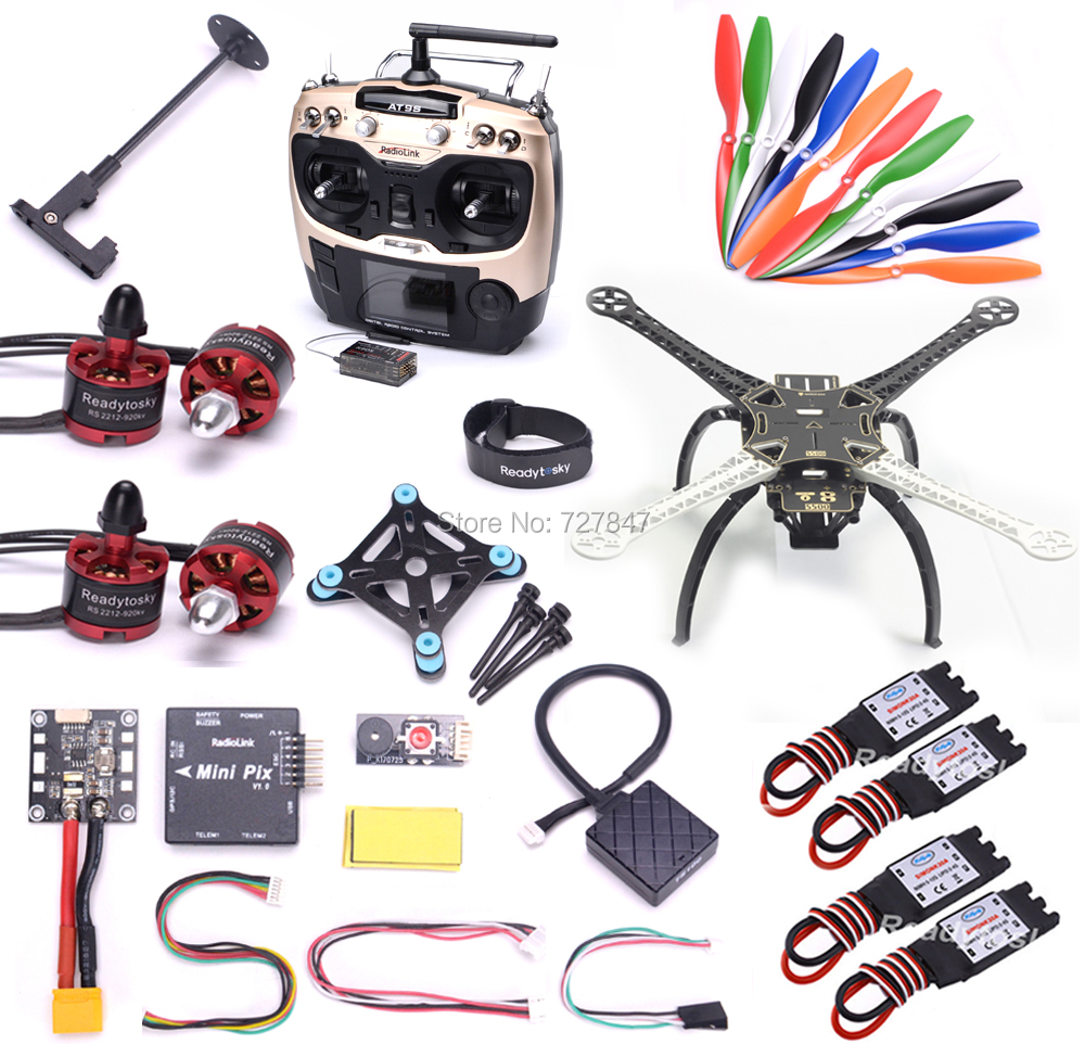 S500 Multi-Copter Quadcopter 2212 920KV Motor 30a simonk Radiolink MINI PIX Pixhawk with 8N M8N GPS  ESC AT9S Super combo tarot 2212 motors 13t a2212 1000kv brushless motor 30a esc combo for quadcopter f450 quadcopter f550 rc hexacopter 4 axis copter