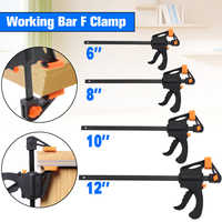 6/8/10/12 Inch Wood Working Bar Release Squeeze Hand Tool F Clamp Grip Ratchet More-nimble Version Hardened Steel Bar no Rust