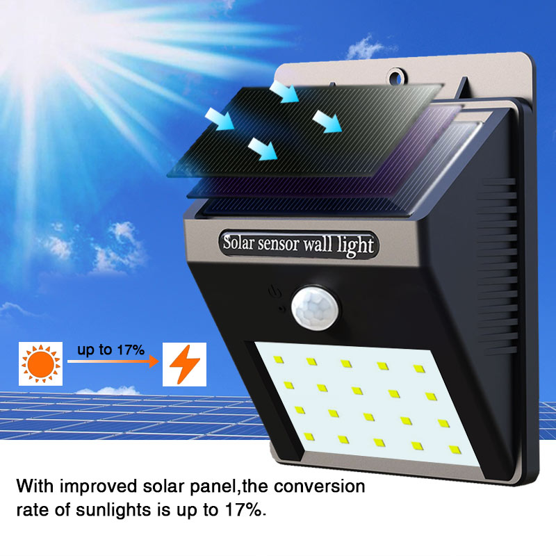 Lâmpadas Solares 2 pcs diodo emissor de Function 1 : Solar Light Motion Sensor