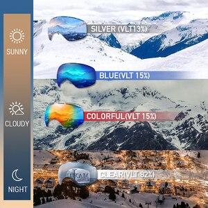 Image 5 - Kayak gözlüğü, kış kar sporları anti sis ile çift Lens kayak maskesi gözlük kayak erkek kadın kar gözlüğü M3