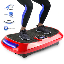 New 4D Exercise Vibration Fitness Massager LCD Display 1-99 Levels Vibrating Plate For Body Building Workout Equipment HWC