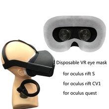 100 sztuk VR jednorazowe maska na oczy pokrywa dla Oculus rift S/rift CV1/quest wirtualnej rzeczywistości zestaw do wirtualnej rzeczywistości okładka Pad