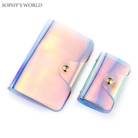 2017 Womens Credit Card Holder Fashion Laser Clutch Wallet ID Credit Cards Holder Travel Passport Cover