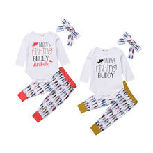 newborn baby toddler sets casual outfit clothes o neck long sleeved tops pants hats 3pcs set baby clothes for boys and girls 3PCS Newborn Baby Girls Tops Long Sleeve Romper Fish Pants Leggings Headband Outfit Set Clothes 2019