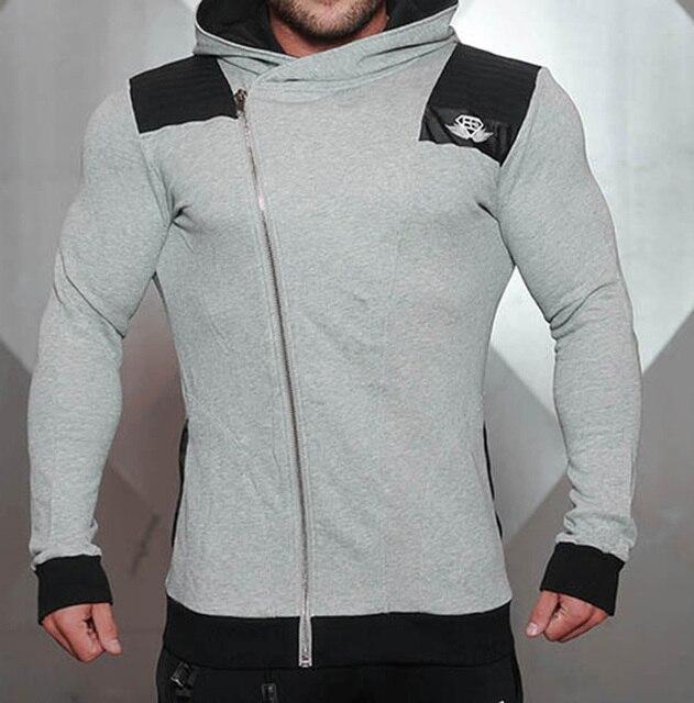 2016 NOVA Moda Dos Homens Hoodies Marca Terno de Alta Qualidade Dos Homens Moletom com Capuz Casuais Zíper Com Capuz Jaquetas Masculinas M-2XL