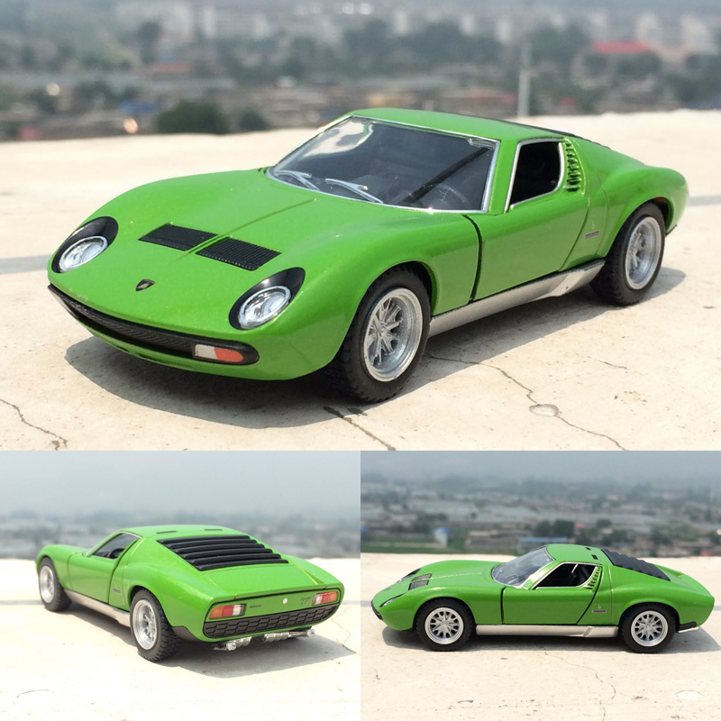 New High Simulation Exquisite 1:32 Scale Car Toys Miura P400 Die-casts Metal Pull Back Car Model Toy Collection Gift For Kids