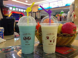 disposable thicken plastic cup,95cm diameter bubble tea  plastic cup,lovely face milk tea cup 1000pcs free shipping