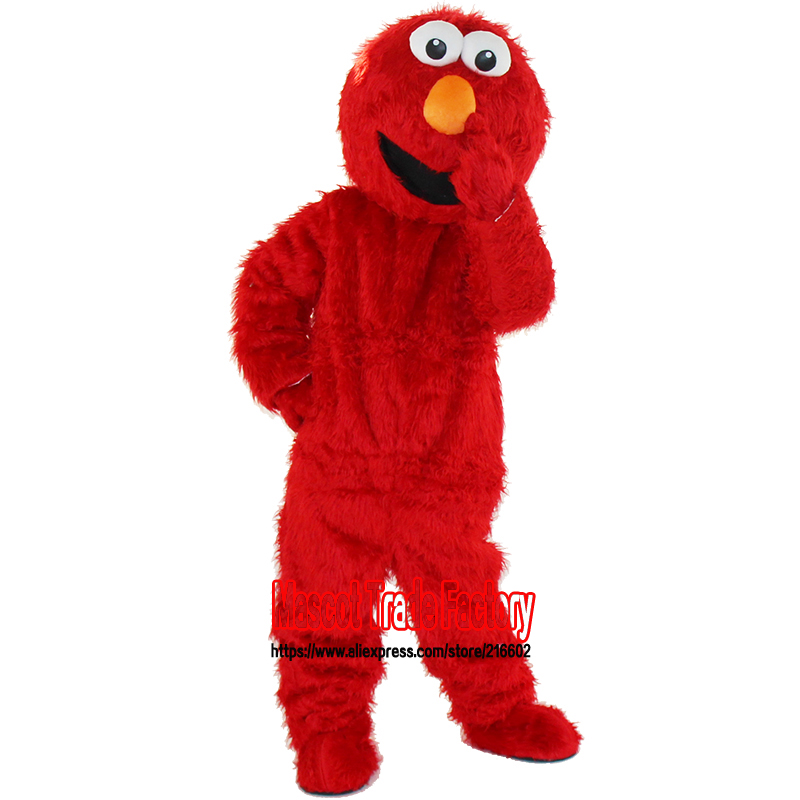 Shitje të drejtpërdrejtë të fabrikës me cilësi të lartë Long F Fr Elmo Mascot Costume Karakteri Cosplay Costume Cartoon Costume Cartoon Elmo Transporti Falas