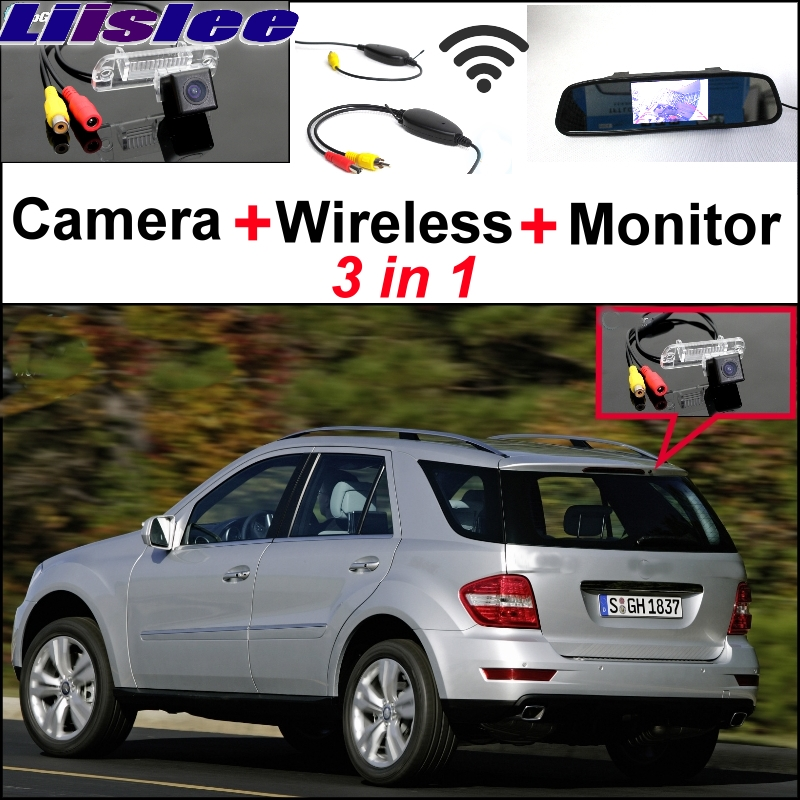 Liislee 3 in 1 Special WiFi Camera + Wireless  + Mirror Monitor Rear View Parking Back Up System For Mercedes Benz ML M MB W164
