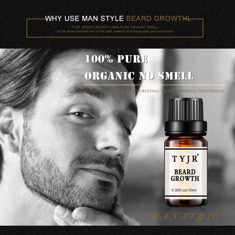 Men Beard Oil 10mL Fast Growth Moisturizing Facial Treatment Eyelashes Care Nourishment Beard Care Growth Oil 2