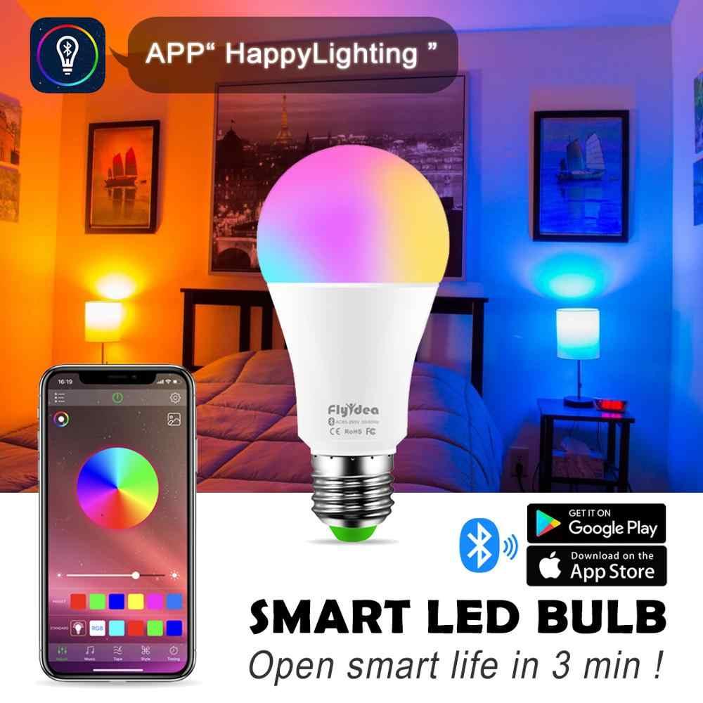 Nouvelle ampoule intelligente sans fil Bluetooth LED 10 W RGB lampe magique E27 changement de couleur ampoule intelligente éclairage domestique Compatible IOS/Android