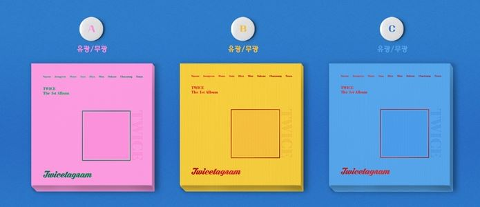 Twice 1st Album - Twicetagram - All Version Set (3 albums/set ) -  Release Date  2017.11.01 120m 4cm 1 roll holo nail transfer foils laser red fine sand nails art transfer stickers manicure nail art decorations tips