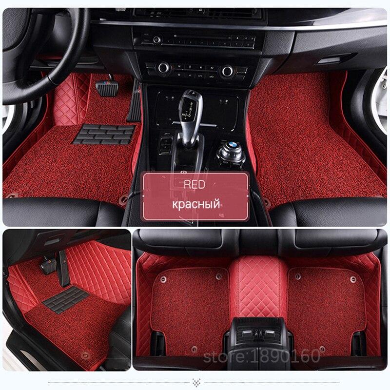 Пользовательские автомобильные коврики для Alfa Romeo Giulia стельвио 2017 Тюнинг автомобилей Автомобильные аксессуары ноги охватывает