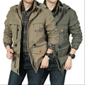 New Arrival Men's Spring and Autumn Popular Casual Hooded Jacket  Multi Pocket  Leisure Jacket Male Functional Jacket