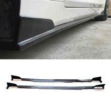 Углеродного волокна сбоку юбки сбоку губ тела комплект планки для Infiniti Q50 Q50S- Тюнинг автомобилей