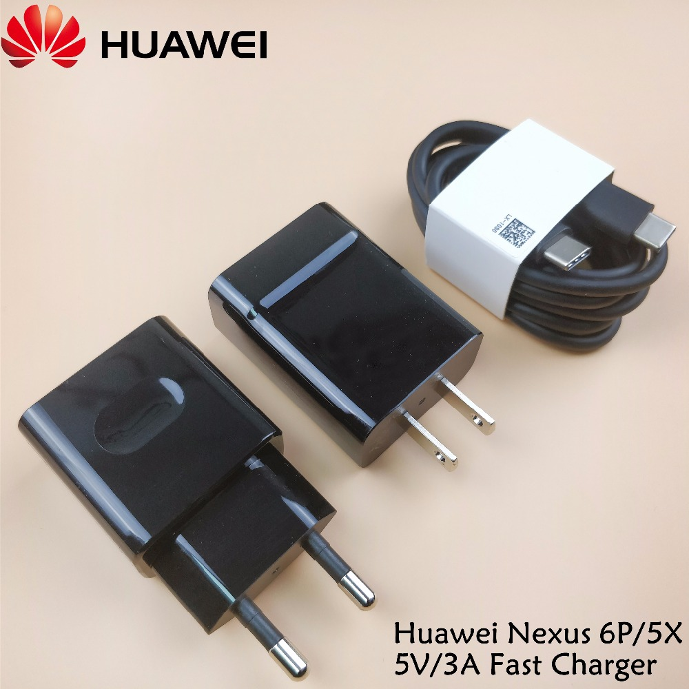 Huawei Nexus 6P/5X Quick Charger US EU Wall 5V 3A Fast Charge Adatper + Usb type c to type-C Cable For LG GOOGLE smartphone