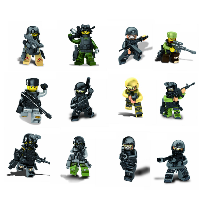12 pieces DIY Military Action Figures Building Blocks Kits Knight Compatible with Legoe Model blocks Toy Educational Bricks Gift new very cool action toy figures 6 pcs orcs with weapon ancient military solider model set diy assembly half orc model puppet