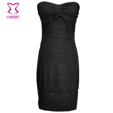 New Arrival Body Shaper Wear Corsets Off The Shoulder Black Strapless Women Prom Seqined Sexy Bodycon Cotton Summer Dress