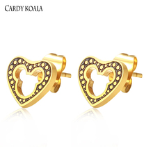 Cardy Koala Love Girls Classic Mickey Earrings Gold / Silver Stud Fashion Jewelry Stainless Steel