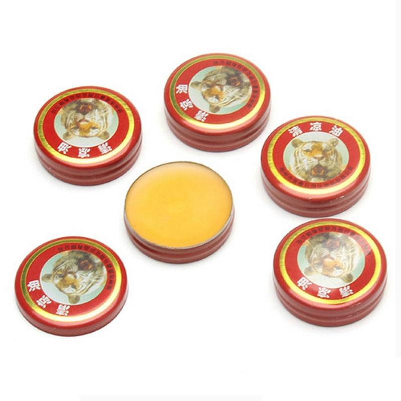 12Pcs/Lot Tiger Head Refreshing Mint Massage Tiger Oil Relief Dizzy Headache Nausea Relaxation