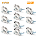 (10 pieces/lot) Stage Light Clamp Hook Holder Quick Coupler Aluminium Polished for  Dia. 38~51mm Tube Width 50mmm