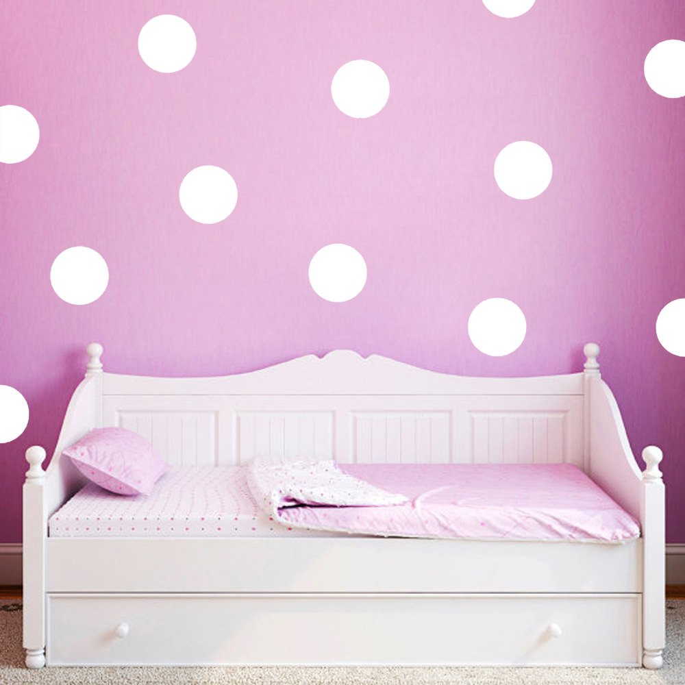 Cartoon cute kids round wall decor dot stickers decal for for Cute wall decor