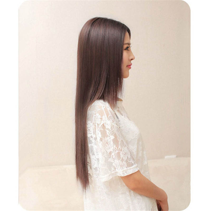 Long Straight wigs front lace wigs synthetic hair Similar to full lace wigs human hair w ...
