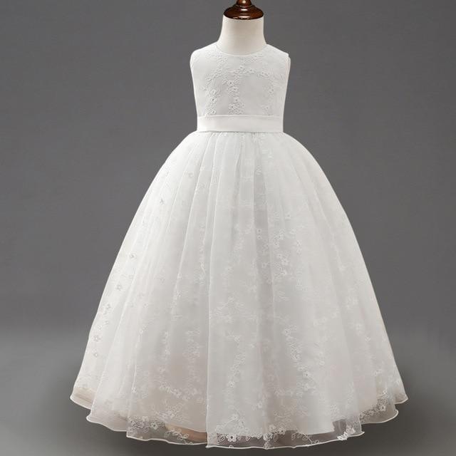 Berngi Summer 2018 New White Princess Dress Children sleeveless ...