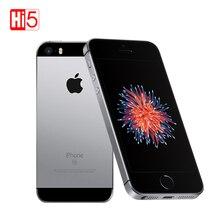 """Orijinal Apple iphone SE cep PhoneA1723/A1662 2GB RAM 16 GB/64 GB ROM 4.0 """"çoklu dokunmatik ekran dil iOS çift çekirdekli kullanılan akıllı telefon"""