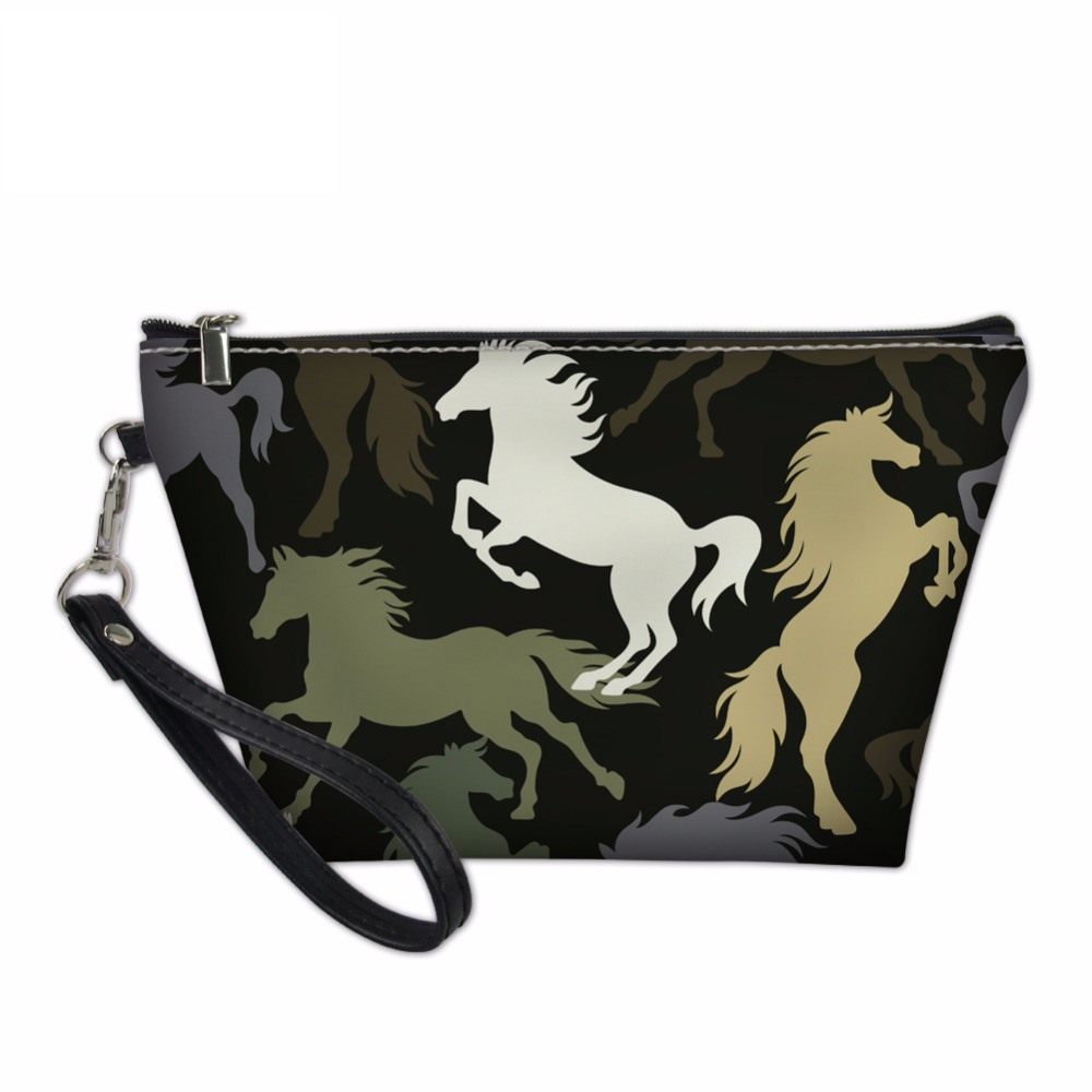 Noisydesigns Pochette Toiletry designer cosmetic bag Cosmetic Bag Crazy Horse Nylon Make ...