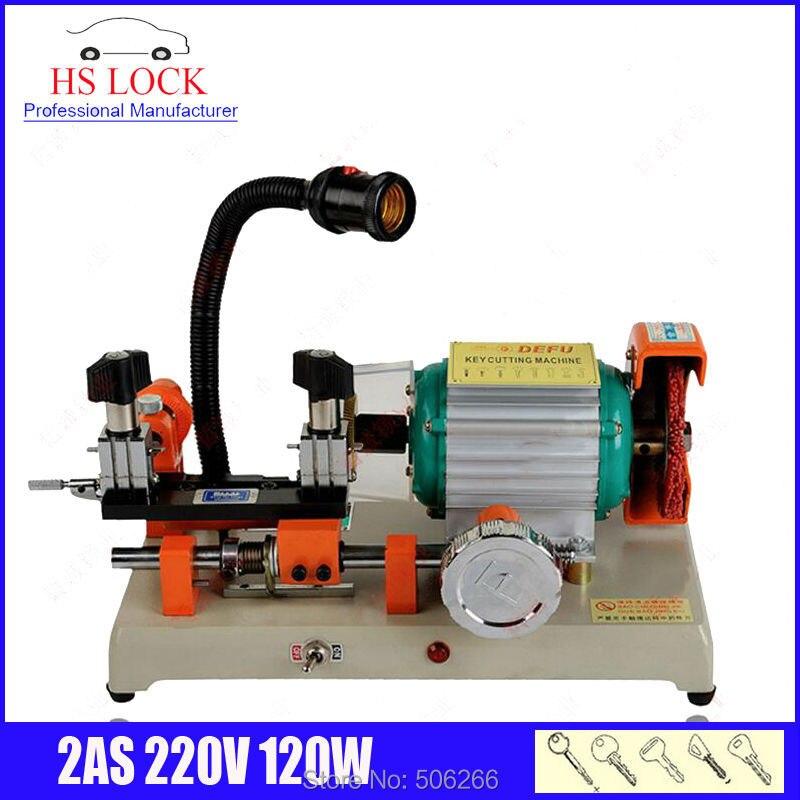 Оригинальный станок для резки ключей defu 2AS 220v 100w с одной головкой, ключевой станок для изготовления дубликатов