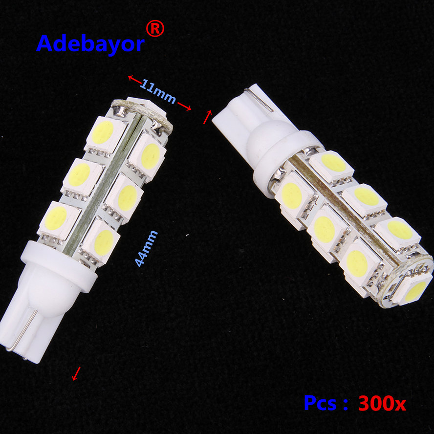 300X T10 194 168 192 W5W 13 SMD 5050 led Car reading door Light Automobile Instrument
