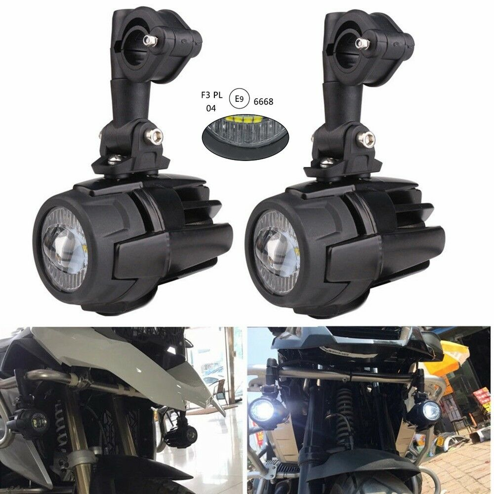 2pcs 40W 4LED Motorcycle LED Auxiliary Fog Light Driving Lamp For BMW R1200GS F800GS 700 KTM Motocycle Fog Lights