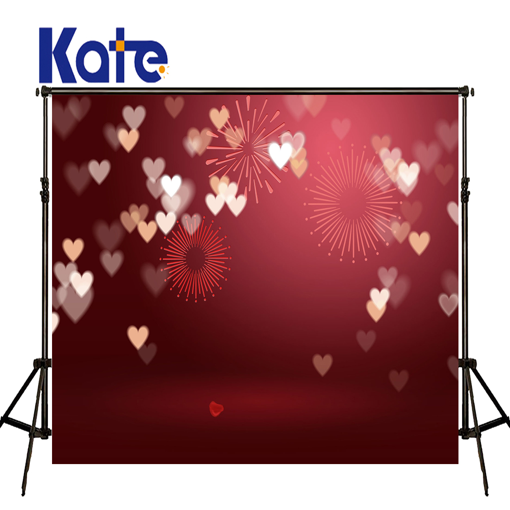 Bokeh Flowers Wedding: KATE Valentine's Day Backdrops Photo Background Red Love