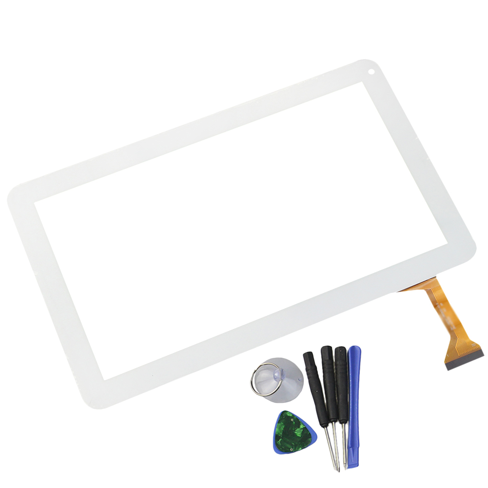 New 10.1 Inch Touch Screen Black/White DH-1007A1-FPC033-V3.0 Glass Sensor Digitizer Replacement with Tools Free Shipping