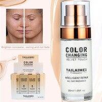 Gezicht Foundation Crème Waterproof Blijvende Concealer Vloeibare Foundation Make-Up Professionele Volledige Matte Base Make Up Cream 30ML