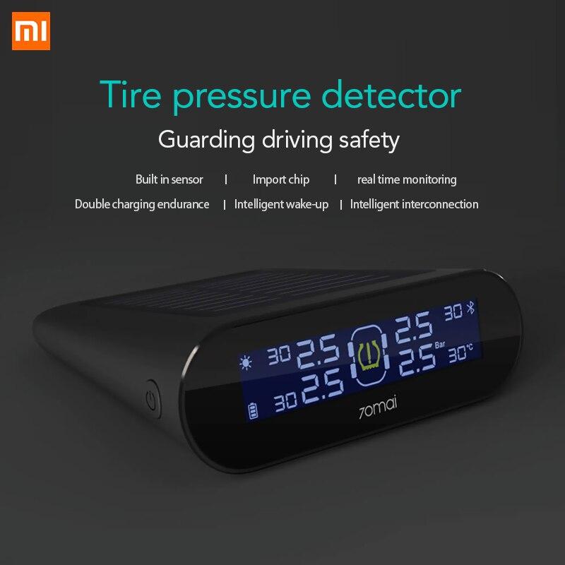 Xiaomi 70mai TPMS Tire Pressure Tester Monitor Solar Power Dual USB Charging
