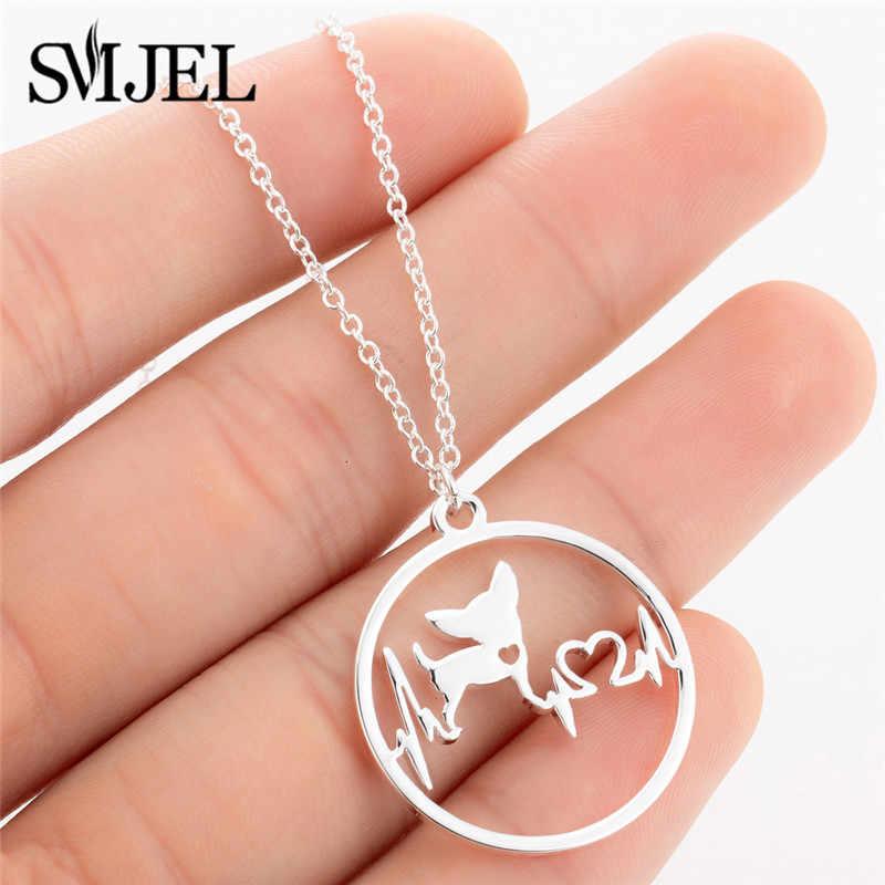 Smjel Wanita Fashion Kalung Perhiasan Stainless Steel Tengkorak Pohon Kehidupan Anjing Mickey Dunia Peta Burung Hantu Kalung Wanita Pria