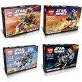 Star Wars Warships Spaceship Clone Troopers R2D2 AT-DP TIE Figures Building Blocks Sets Bircks Toys No original box Lepin