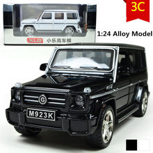 Mercedes G55 car model, 1:24 scale Alloy Pull Back cars,Diecast suv,flashing boy,girls toys,free shipping(China)